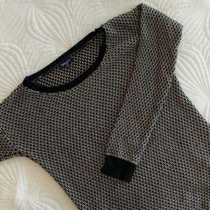 Splendid Black & Tan Knit Crew Neck Sweater Small